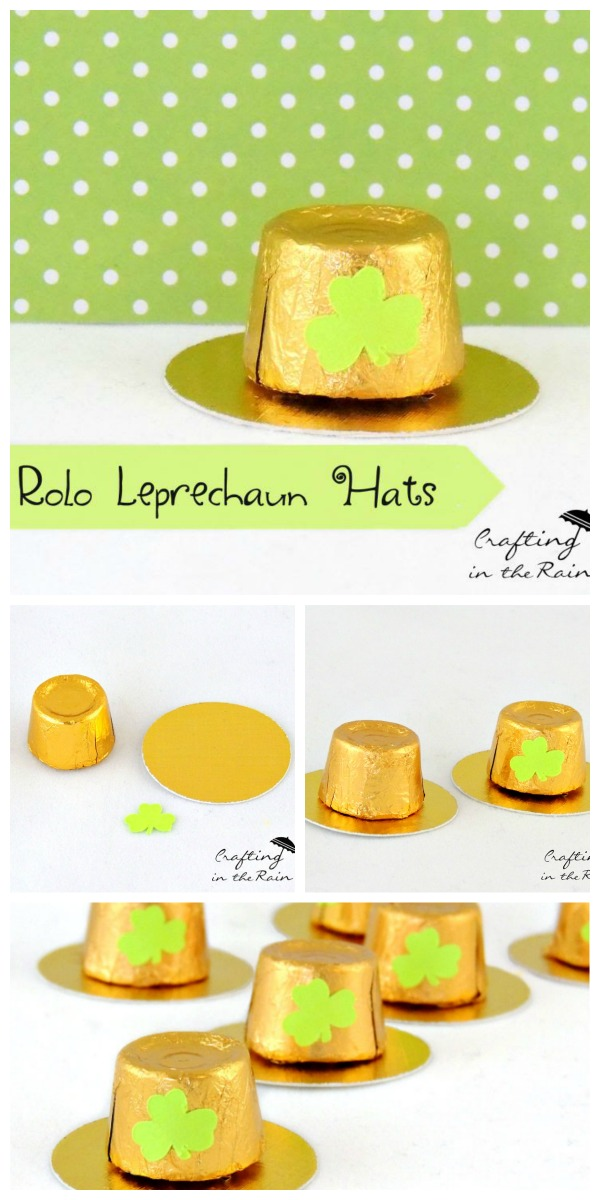 Rolo Leprechaun Hats | St. Patrick's Day Craft Ideas. Easy kids craft. See more on Today's Creative Life