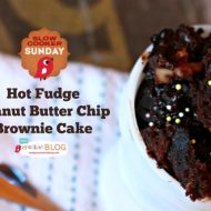 Crockpot Hot Fudge Peanut Butter Chip Brownie Cake