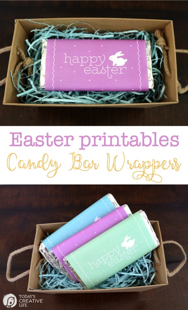 Printable Easter Candy Bar Wrappers | free Easter Printables designed by Elegance and Enchantment for Today's Creative Life. Click the photo to download yours.
