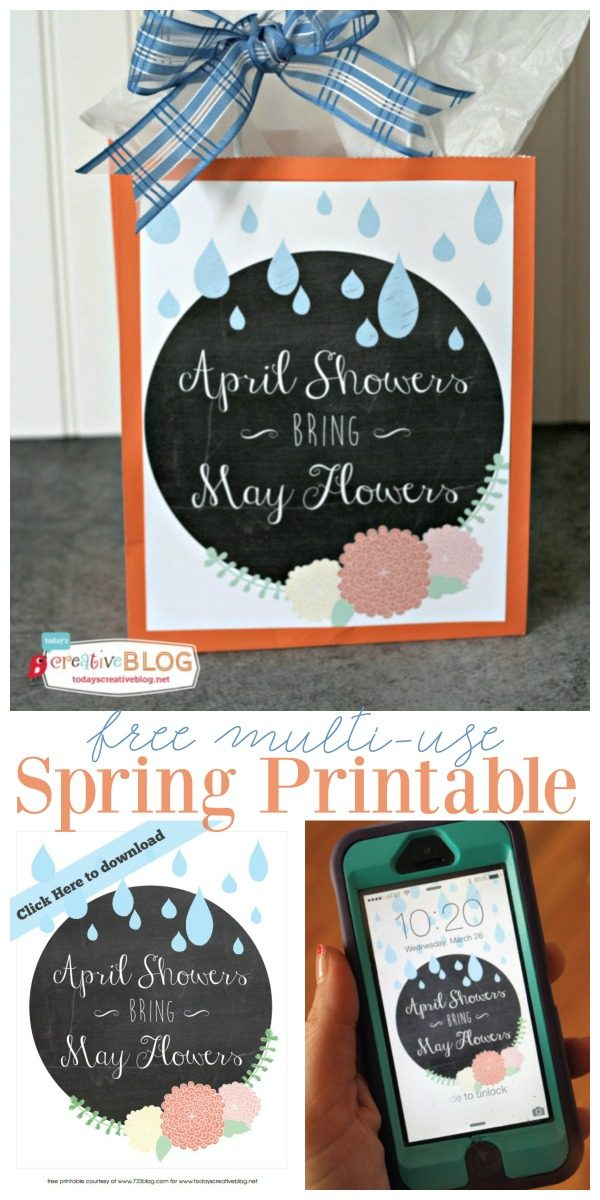 Free Springtime printable for download. Printable wall art, gift tags, wallpaper and more. This printable can be used so many ways. Designed by Inspiration Made Simple for TodaysCreativeLife.com
