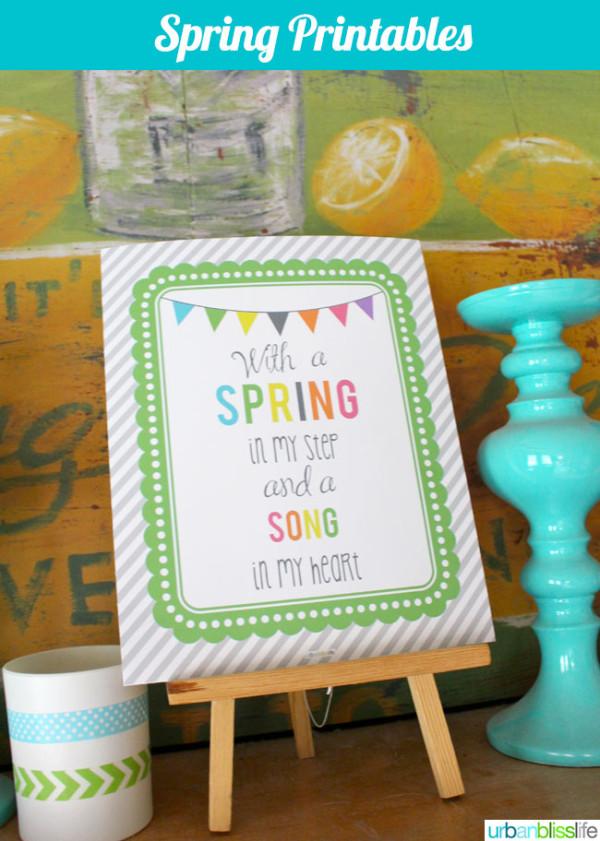 Spring Time Free Printable   TodaysCreativeBlog.net