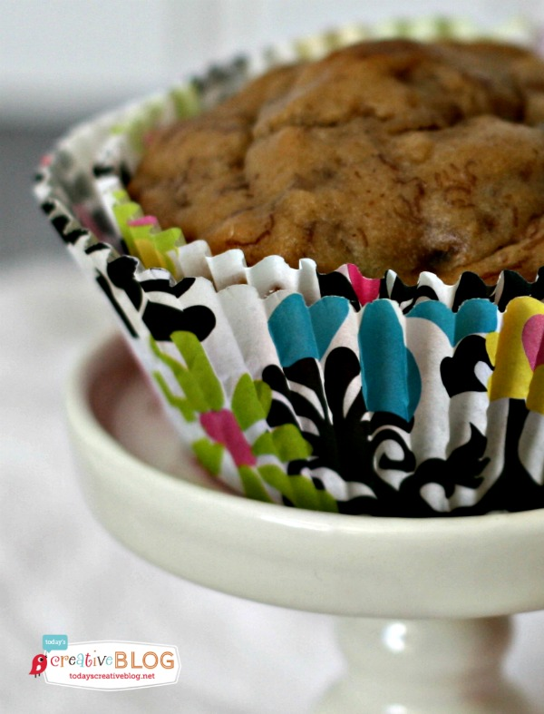 PB2 Banana Muffins | TodaysCreativeBlog.net