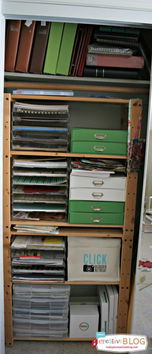 Storing Craft Supplies | TodaysCreativeBlog.net