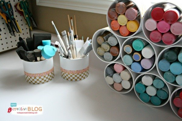 Craft Paint Storage | TodaysCReativeBlog.net