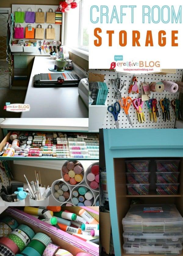 Storing Craft Supplies   TodaysCreativeBlog.net