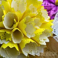 DIY Paper Doily Flowers | Paper flowers are easy to make! Instead of using tissue, we're using doilies. See the step by step tutorial on TodaysCreativeLife.com