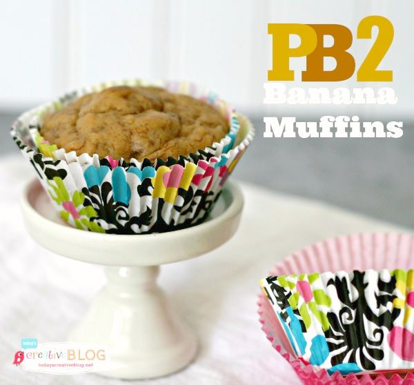 PB2 Banana Muffins | Easy recipe using powdered peanut butter powder | Healthy and Delicious | High Protein Snacks and Muffins | Breakfast ideas for kids | TodaysCreativeLife.com