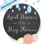 Springtime Printable {April Showers}
