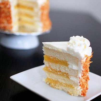 Coconut Layer Cake Filled with Lemon Curd from www.beantownbaker.com