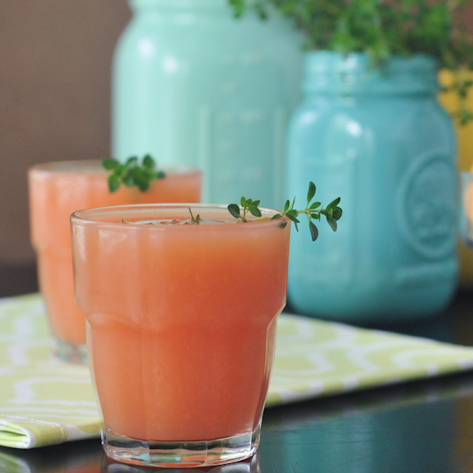 Grapefruit Thyme Mimosa-Ritas from SpaBettie.com on TodaysCreativeBlog.net