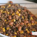 Easy Crockpot Taco Meat |TodaysCreativeBlog.net