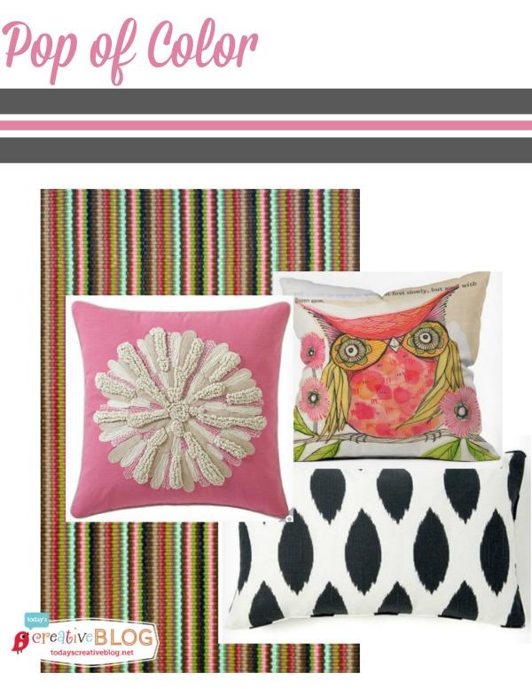 Pop of Color the Easy Way | TodaysCreativeBlog.net