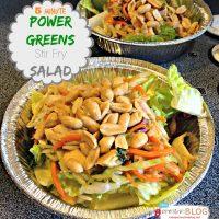5 Minute Power Greens Stir Fry Salad