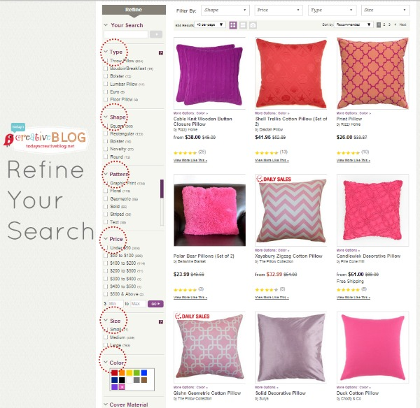 Wayfair Refined Search