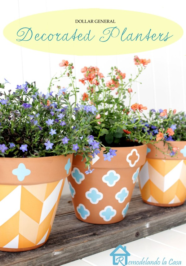 Painted Flower Pots | TodaysCreativeBlog.net