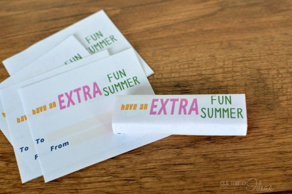 Printable Gum Wrappers | Free Printables for School | Find more creative ideas on TodaysCreativeBlog.net