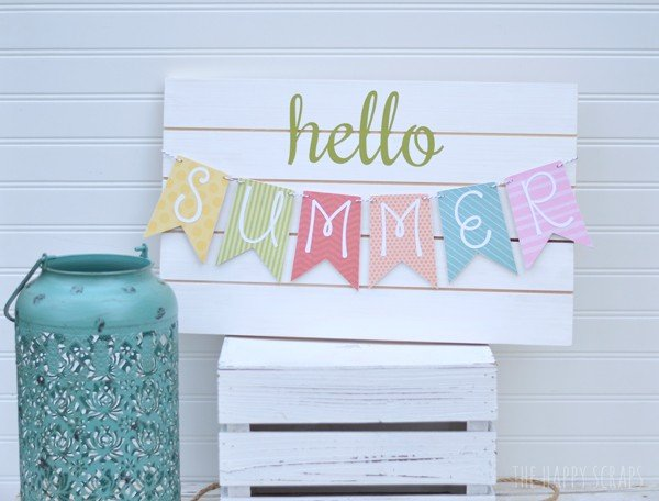 DIY Summer Banner on TodaysCreativeBlog.net | For more creative DIY projects visit TodaysCreativeBlog.net