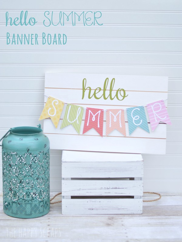 DIY Summer Banner | Wood sign party banner tutorial | Easy crafts for summer or party decorations. Cricut Crafts | TodaysCreativeLife.com