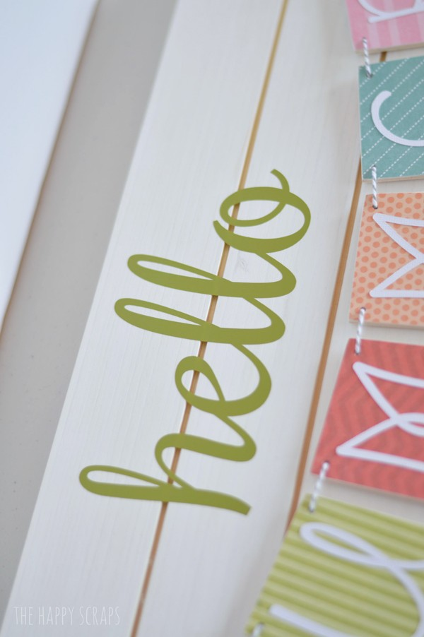 DIY Summer Banner Tutorial | Wood sign party banner tutorial | Easy craft for summer or party decorations. Cricut Crafts | TodaysCreativeLife.com