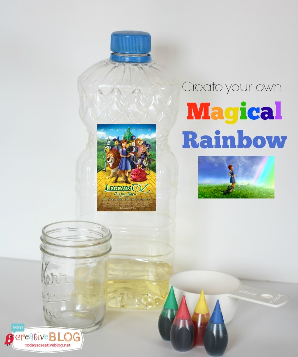 Science Project for Kids - Magic Rainbows | Create this fun diy science craft for kids for an easy indoor project. See the tutorial on Today's Creative Life. Just click on the photo.