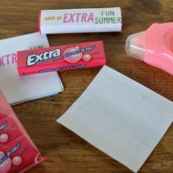 Printable Gum Wrappers – End of School Gift