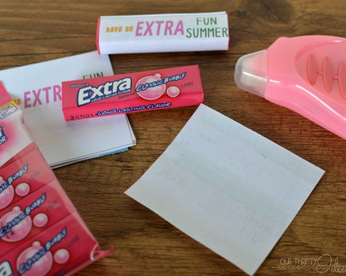 Printable Gum Wrappers on TodaysCreativeBlog.net
