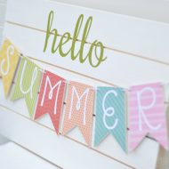 DIY Summer Banner Tutorial