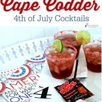 Cape Codder - 4th of July Drink with Pop Rocks