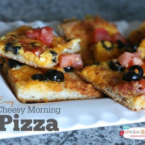 Cheesy Morning Pizza   TodaysCreativeBlog.net