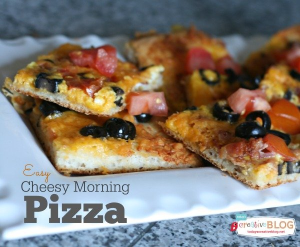 Cheesy Morning Pizza | TodaysCreativeBlog.net