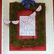 DIY Patriotic Door Decorations