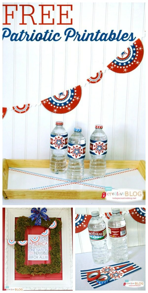 Free Patriotic Printables | Red White and Blue Printables | Free 4th of July decorating ideas | Free Printables | Memorial Day Printables | TodaysCreativeLife.com