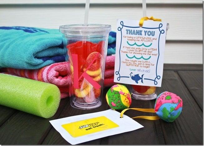 Swim Teacher Gift Idea - Today's Creative Life