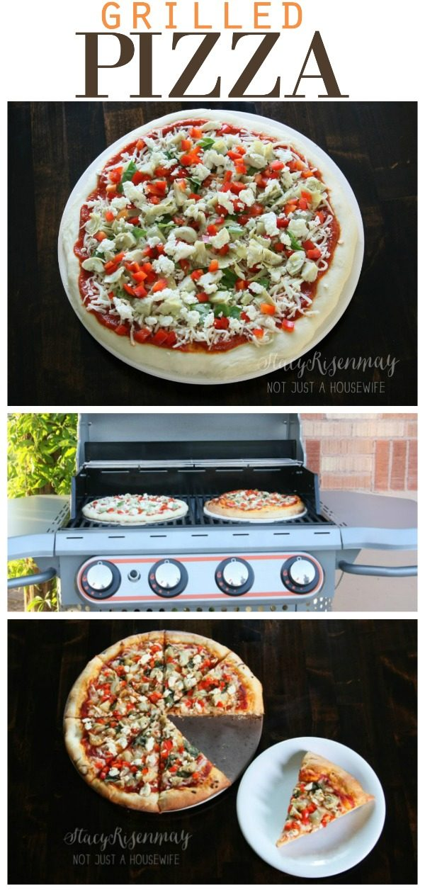Homemade Grilled Pizza Recipe for the BBQ | Summer grilling recipes for family friendly dinners are the best! Using the best homemade pizza dough is a good start! Recipe by guest poster Not Just A Housewife for TodaysCreativeLife.com