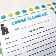 Printable Summer Reading Log