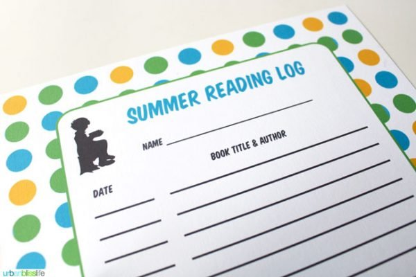 FREE Printable Reading Log