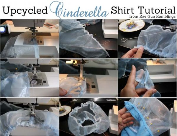 DIY Cinderella Shirt | Dress up like Disney's Cinderella with this easy sewing project. See tutorial on TodaysCreativeLife.com