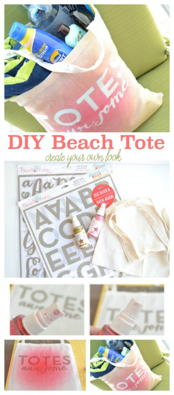 DIY Beach Tote | Craft your own look with this spray technique. Follow this full craft tutorial for more ideas. TodaysCreativeLife.com