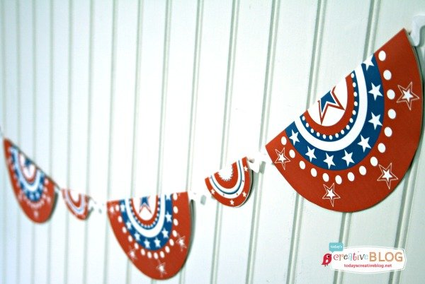 Free Patriotic Printables | Red White and Blue, 4th of July, Fourth of the July Party Printables. Bottle Wrappers, Banners, Patriotic Door Decor | Click the photo for your free downloads. TodaysCreativeLife.com
