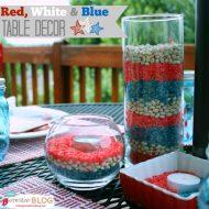 Red, White & Blue Patriotic Decor | TodaysCreativeBlog.net