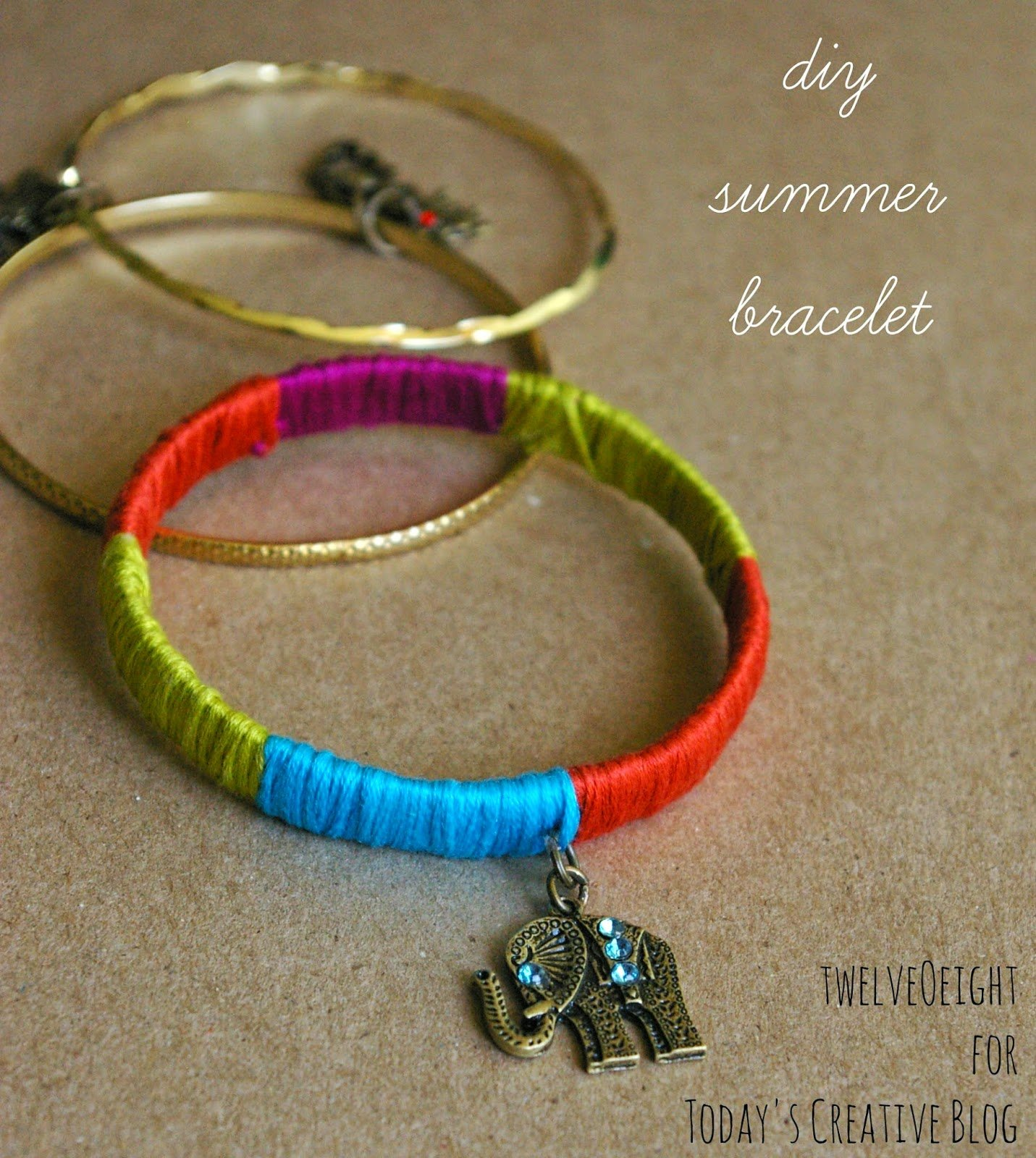 DIY Summer Bracelet Tutorial| TodaysCreativeblog.net| TodaysCreativeBlog.net