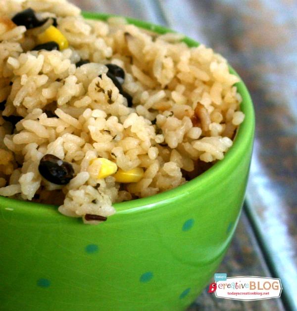 Sweet Rice Southwest Style | TodaysCreativeBlog.net