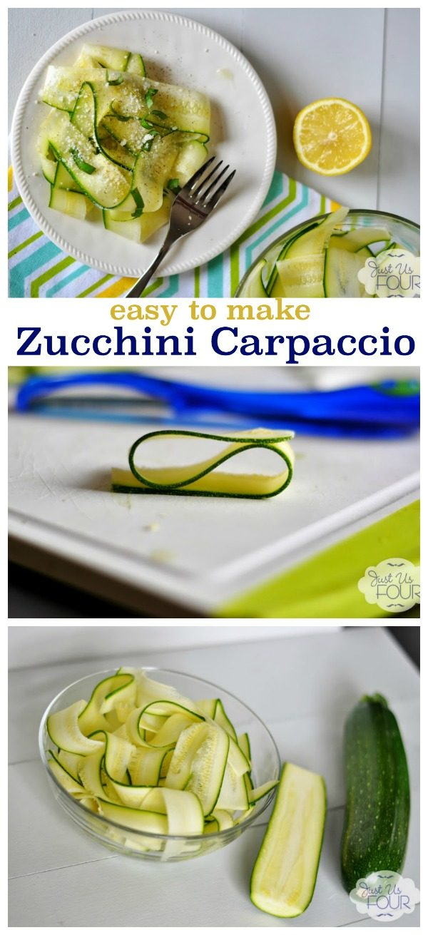 Zucchini Carpaccio Salad Recipe | If you're looking for a refreshing summer salad, this it. Great way to use up those zucchini! See the recipe on TodaysCreativeLife.com
