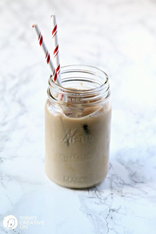 Creamy Ice Coffee Recipe | Use coffee ice cubes and creamer to make delicious iced coffee. Easy Recipe. TodaysCreativeLife.com