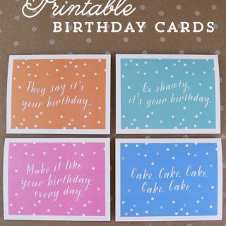 Printable Birthday Cards with Envelope Liner | TodaysCreativeBlog.net