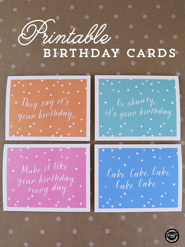 Printable Birthday Cards With Envelope Liner
