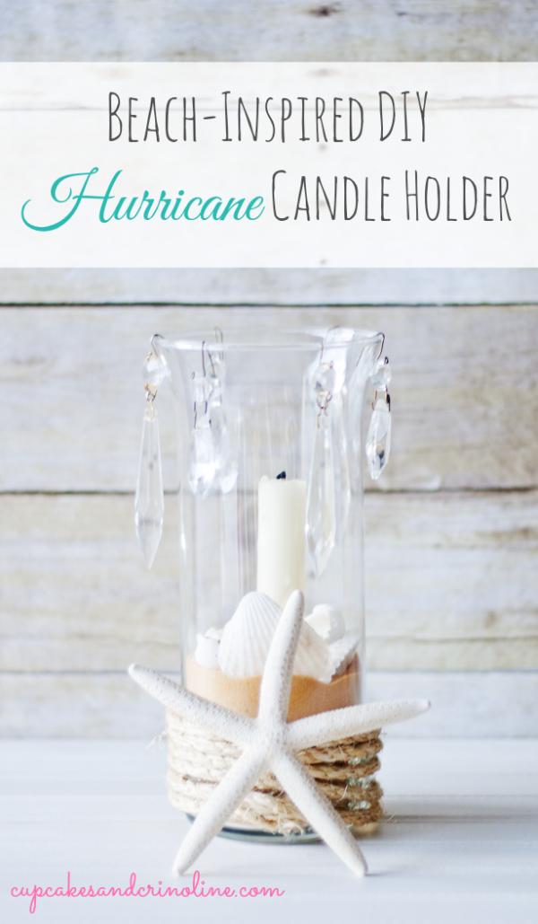 DIY Beach Inspired Hurricane Candle Holder   TodaysCreativeBlog.net