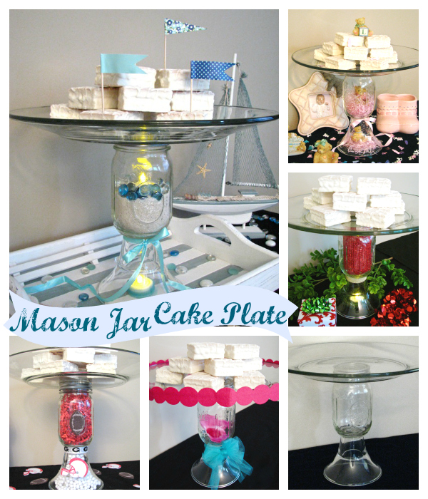 DIY Mason Jar Cake Plate | TodaysCreativeBlog.net