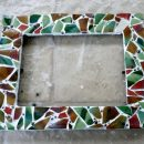 DIY Mosaic Picture Frame | TodaysCreativeBlog.net