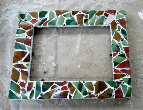 diy mosaic picture frame todayscreativeblognet - Mosaic Picture Frames